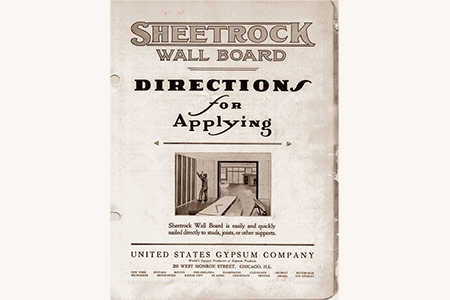 Historic sheetrock application directions